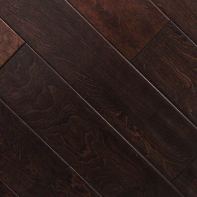 "5"" x 48"" x 2.7mm Birch Laminate Flooring in Cherry Chocolate (Set of 22)"
