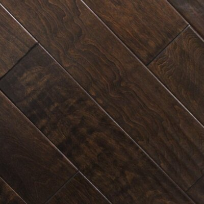 "5"" x 48"" x 2.7mm Birch Laminate Flooring in Expresso (Set of 22)"