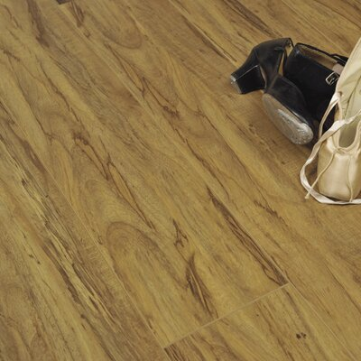 "7"" x 48"" x 12.3mm Laminate Flooring in Rustic Olive"