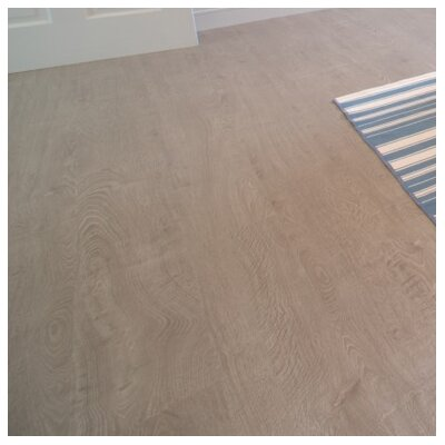 "8"" x 48"" x 12.3mm Laminate Flooring in Sand Dollar (Set of 22)"