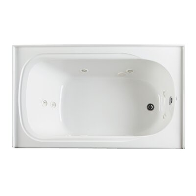 "Vision 59.75"" x 32"" Whirlpool Drain Location: Left"