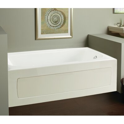 "Vision 59.75"" x 32"" Soaking Bathtub Drain Location: Left"