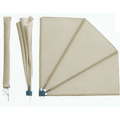 Grasekamp 140 cm W x 140 cm D Premium Fan-shaped 1 Panel Room Divider