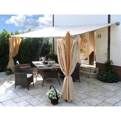 Grasekamp Luxus 3 Piece Side Panel Set for Attached Pergola