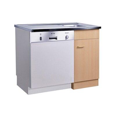 Held Möbel Start Kitchen Sink Center with 1 Door, 1Aperture and 1 Sink