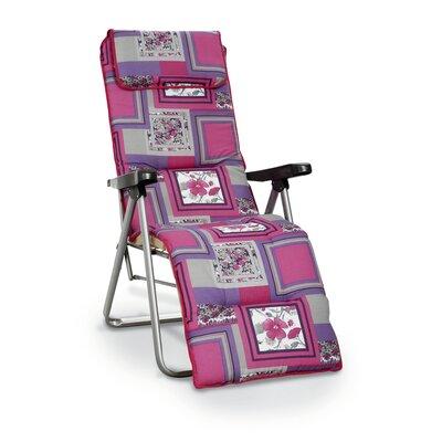 Best Freizeitmöbel Azur Folding Sun Lounger with Cushion