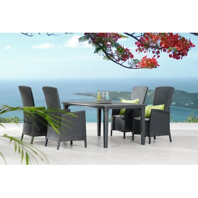 Best Freizeitmöbel Capri+Genua 4 Seater Dining Set with Cushions
