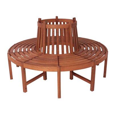 Garden Pleasure Fontana 8-Seater Eucalyptus Tree Bench