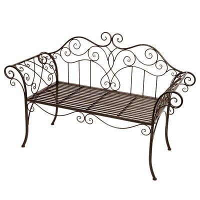 Garden Pleasure Viva La France 2-Seater Steel Garden Bench