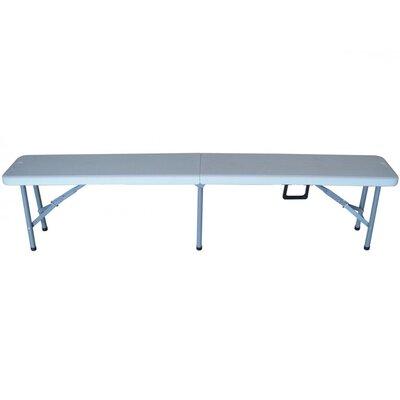 Garden Pleasure Mufaro Steel and Polyethylene Folding Bench