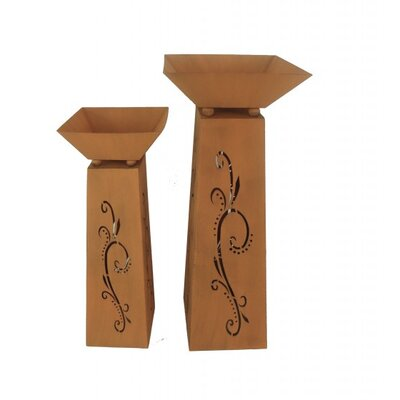 Garden Pleasure 2-Piece Rectangular Pedestal Set