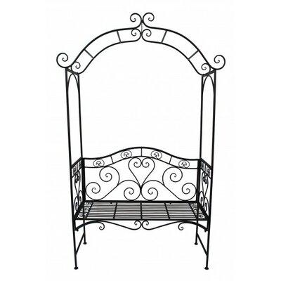 Garden Pleasure Metal Bench with Rose Arch