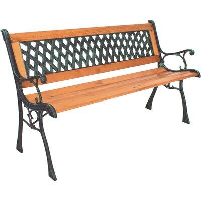 Garden Pleasure Windsor Metal and Hardwood Park Bench