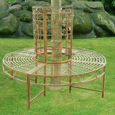 Garden Pleasure 8-Seater Romantic Metal Tree Bench
