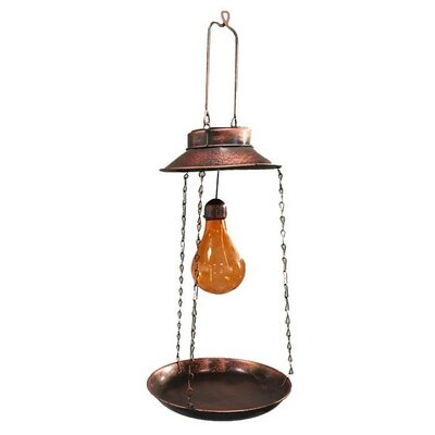 Solar Tray Bird Feeder Color: Copper