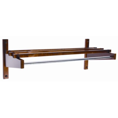 "Economy 24"" Hardwood Top Bars Walnut Coat Rack"