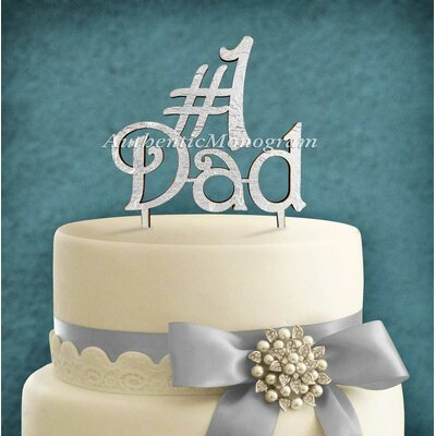 Dad Wooden Cake Topper Color: Lilac