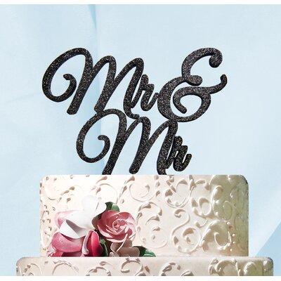 Mr. and Mr. Cake Topper Color: Silver Glitter