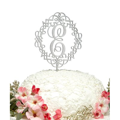 Diamond-Frame Dollar Sign Wooden Cake Topper Color: Lilac