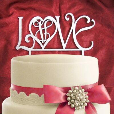 Love Wooden Cake Topper Color: Linen