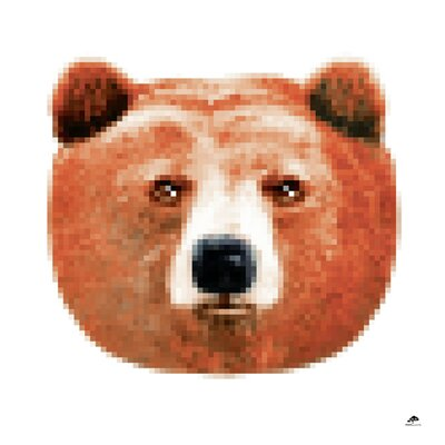 Atelier Contemporain Bear by Aksel Graphic Art on Canvas