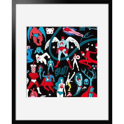 Atelier Contemporain Superwings Crew by Aksel Framed Graphic Art