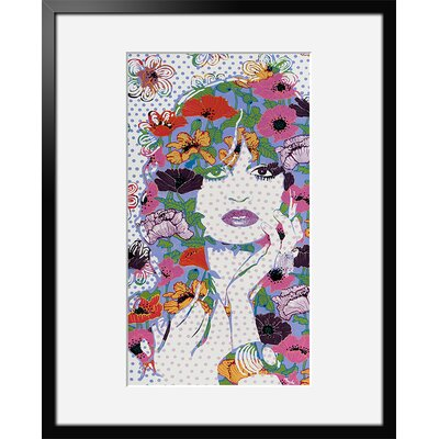 Atelier Contemporain Miss Florelle by Amylee Framed Graphic Art