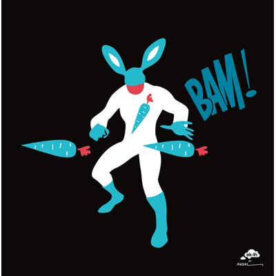 Atelier Contemporain Bunny Man by Aksel Graphic Art Wrapped on Canvas