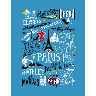 Atelier Contemporain Icon's Paris by Aksel Graphic Art Wrapped on Canvas