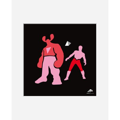 Atelier Contemporain Pink and Pink by Aksel Framed Graphic Art
