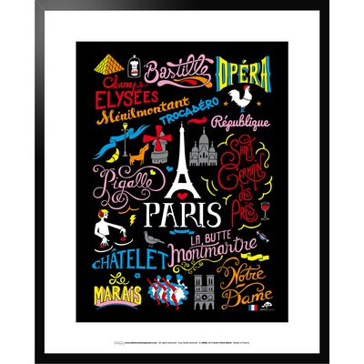 Atelier Contemporain Icon's Paris by Aksel Framed Graphic Art