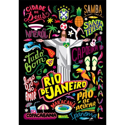 Atelier Contemporain Icon's Rio by Aksel Vintage Advertisement on Canvas