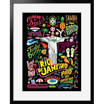 Atelier Contemporain Icon's Rio by Aksel Framed Graphic Art