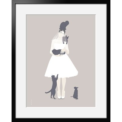 Atelier Contemporain Chats by Bahar Framed Graphic Art