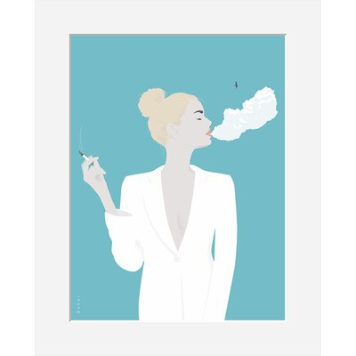 Atelier Contemporain Cigarette by Bahar Framed Graphic Art