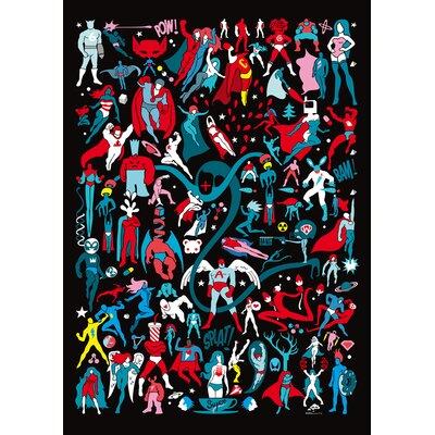 Atelier Contemporain Comics by Aksel Graphic Art on Canvas
