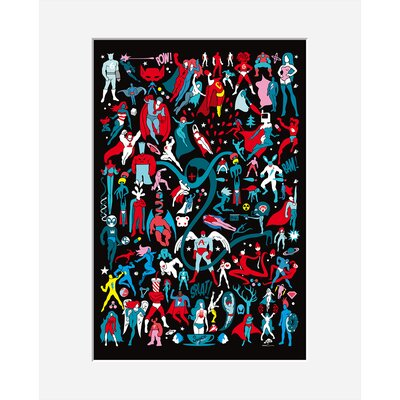 Atelier Contemporain Comics by Aksel Framed Graphic Art