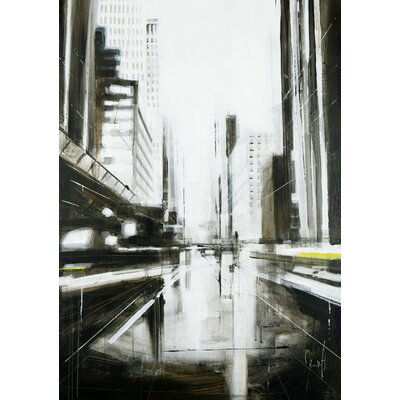 Atelier Contemporain Perspective Urbaine by Mergault Graphic Art on Canvas