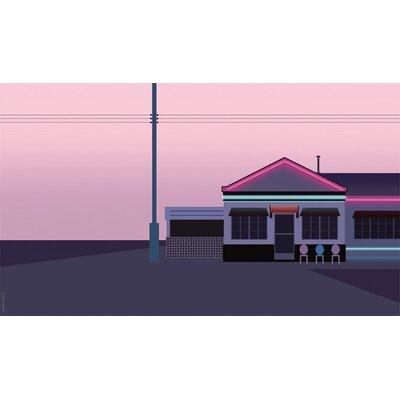 Atelier Contemporain Pink Motel by Clément Dezelus Graphic Art on Canvas