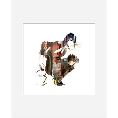 Atelier Contemporain Urban Girl 01 by Sophie Griotto Framed Graphic Art