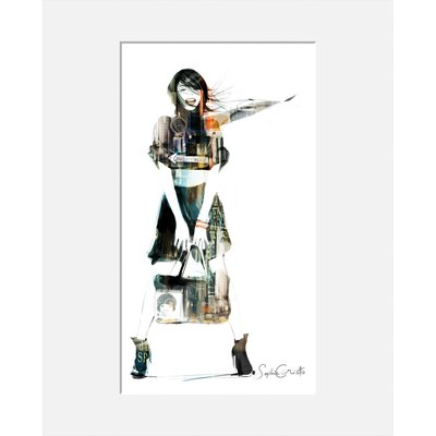 Atelier Contemporain Urban Girl 08 by Sophie Griotto Framed Graphic Art
