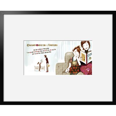 Atelier Contemporain Champion 03 by Griotto and Marcella Framed Graphic Art