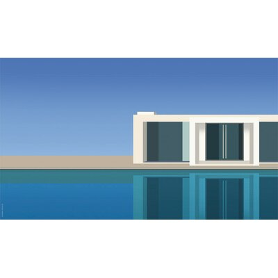 Atelier Contemporain The Pool by Clément Dezelus Graphic Art on Canvas