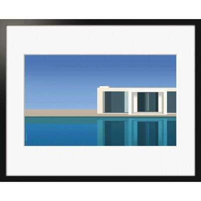 Atelier Contemporain The Pool by Clément Dezelus Framed Graphic Art