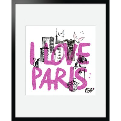 Atelier Contemporain I Love Paris by Burfitt Framed Graphic Art