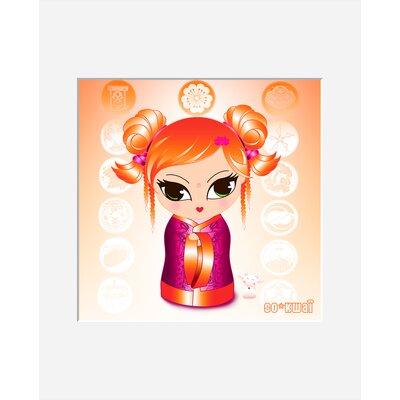 Atelier Contemporain Orange by Ds Kamala Graphic Art