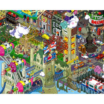 Atelier Contemporain London by Eboy Graphic Art