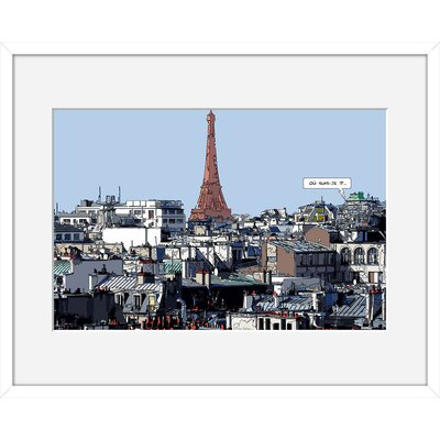 Atelier Contemporain Ou-Suis-Je by Philippe Matine Framed Graphic Art