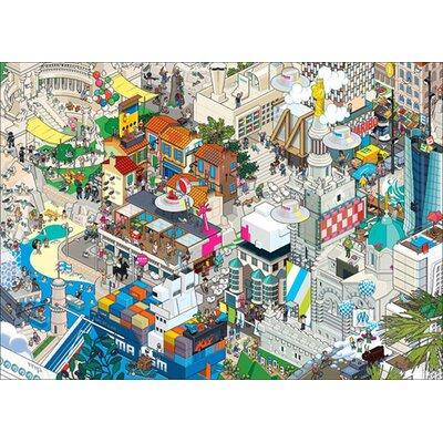 Atelier Contemporain Eboy Marseille V2 by Eboy Framed Graphic Art