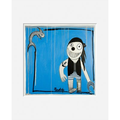 Atelier Contemporain Le Poisson Et Le Pirate by Paratilla Framed Art Print